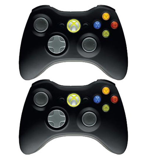 Xbox 360 Black Wireless Controller 2-Pack (Microsoft)