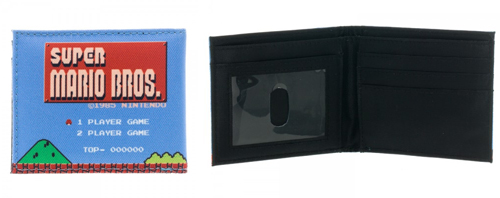Nintendo Super Mario 8-Bit Sublimated Bi-Fold Canvas Wallet