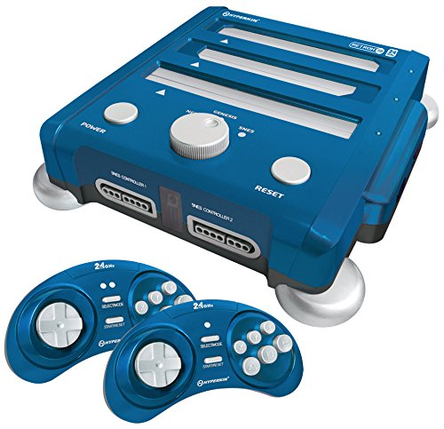 RetroN 3 3 in 1 System With Wireless Controllers 2.4GHz Edition (Blue)