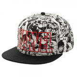 Marvel Comics All Over Print Black/White Snapback