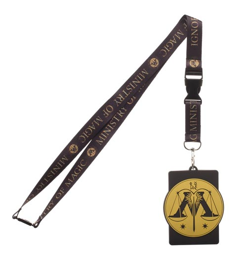 Harry Potter Ministry of Magic Lanyard with Rubber ID Holder