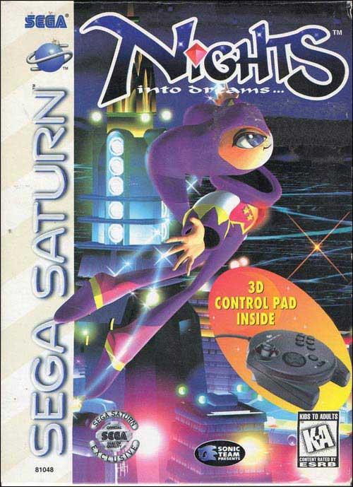 NiGHTS Into Dreams W/3D Control Pad