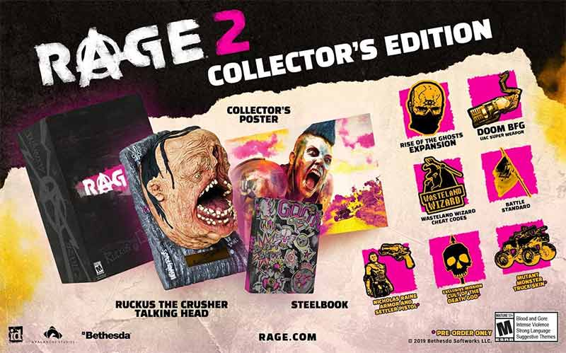Xbox One Rage 2 Collectors Edition bonus items