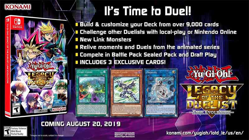 Yu Gi Oh Legacy of the Duelist Link Evolution exclusive trading cards