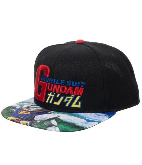 Mobile Suit Gundam Sublimated Bill Snapback Hat
