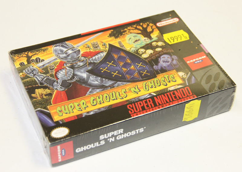 A brand new SNES Super Ghouls 'N Ghosts is  available for sale