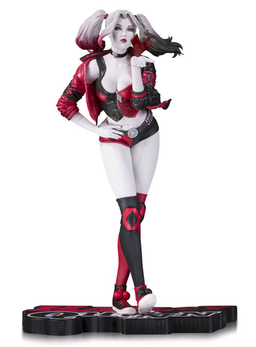 Harley Quinn Red, White & Black Statue