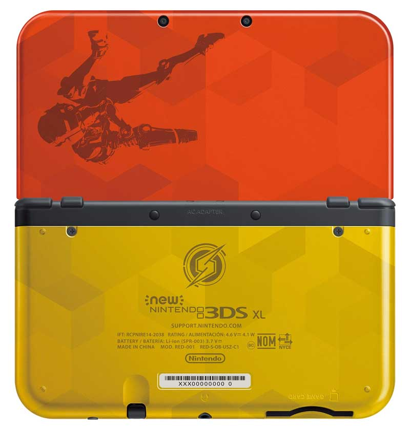 New 3DS XL Samus Edition front and back design