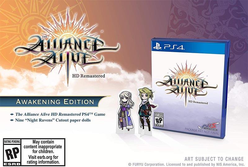 PS4 Alliance Alive HD Remastered Awakening Edition bonus paper dolls