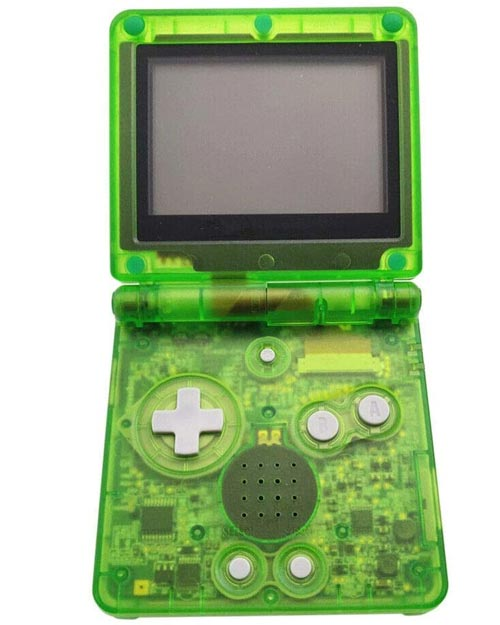 Game Boy Advance SP Housing Shell Replacement Service Clear Green