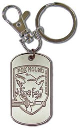 Metal Gear Solid 3 FOXHOUND Dog Tag Keychain