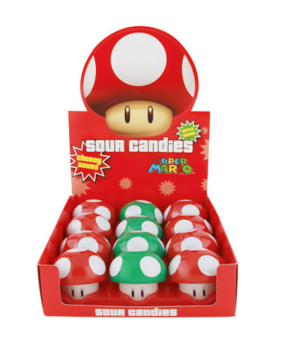 Super Mario Brothers Mushroom Sour Candy