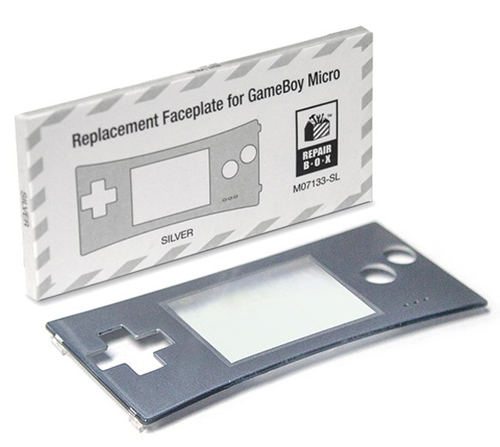 Game Boy Micro Replacement Faceplate - Silver
