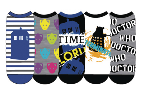 Doctor Who Ladies Low Cut Socks 5 Pk