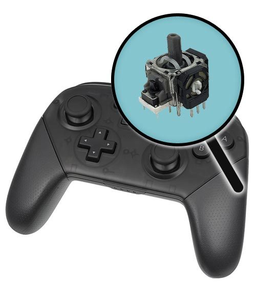 Nintendo Switch Repairs: Pro Controller Single Analog Joystick Replacement Service