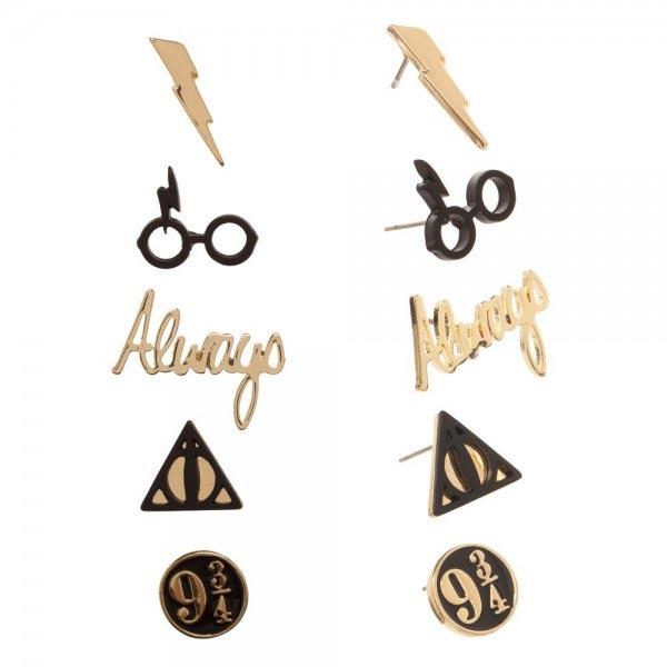 Harry Potter 5PK Earring Set all earrings
