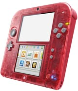 Nintendo 2DS Crystal Red Refurbished System - Grade A