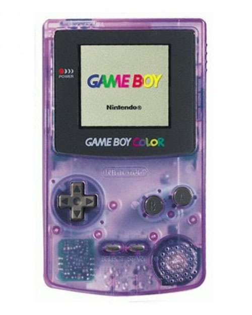 Nintendo Gameboy Color System Clear/Purple