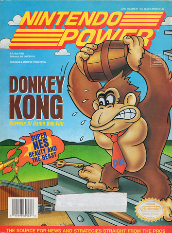 Nintendo Power Magazine Volume 61 Donkey Kong Game Boy