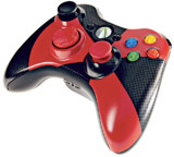 Xbox 360 Wireless Controller Red and Black Radiation Design