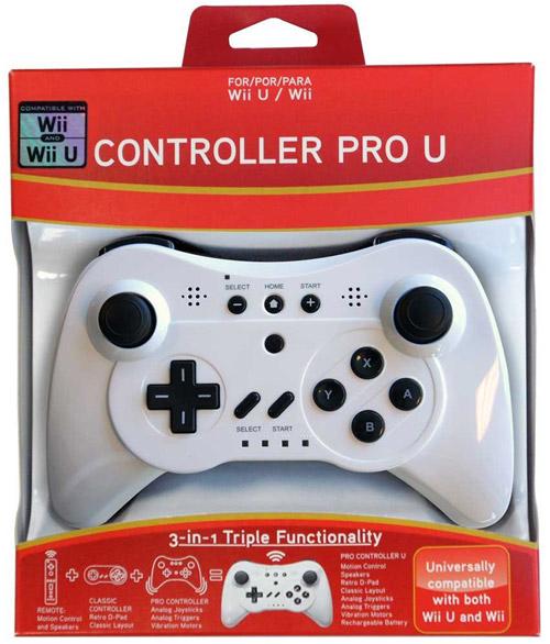 Wii U Controller Pro U White