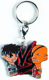Street Fighter Gray Ryu vs Sagat Enamel Keychain
