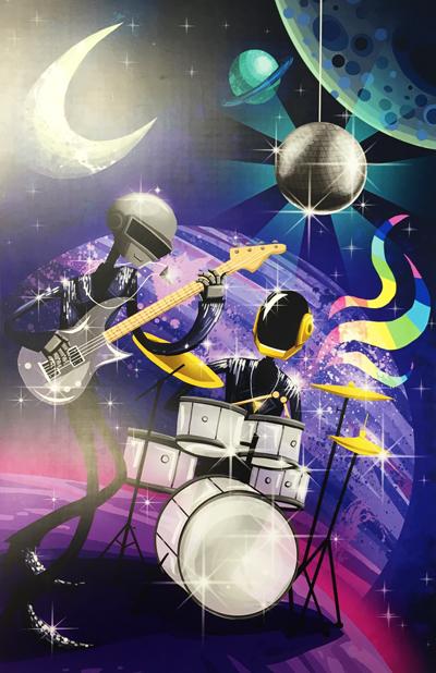 Daft Punk Digital Print