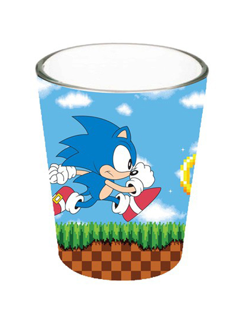 Sonic Running Shot Glass