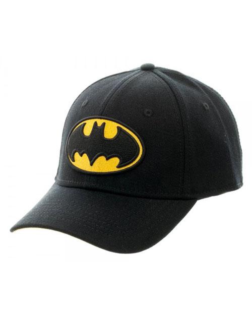 Batman Logo Black Flex Cap