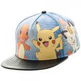 Pokemon Printed Characters PU Snapback