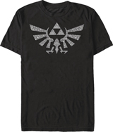 Legend of Zelda Symbolled Crest Black T/S LG