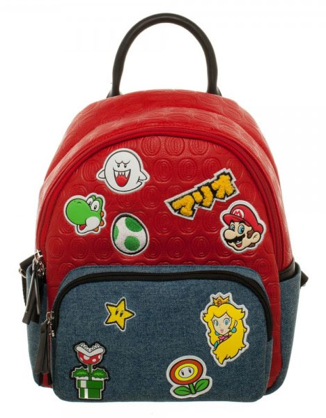 Super Mario Brothers Patches Jrs. Mini Backpack