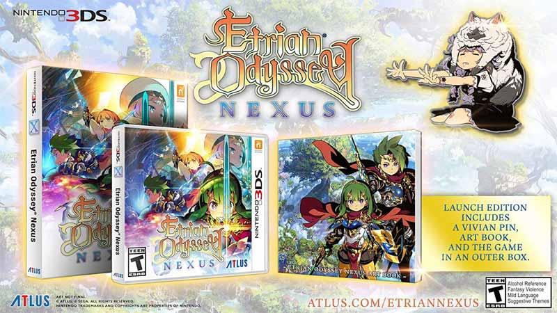 3DS Etrian Odyssey Nexus bonus material