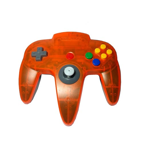 Nintendo 64 Daiei Hawks Controller Clear Orange and Black