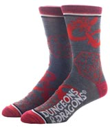Dungeons & Dragons Dice Roll Crew Socks 3 Pack
