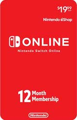 Nintendo Switch Online 12 Month Single Membership Card