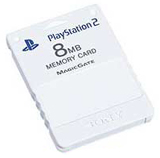 PS2 Memory Card Ceramic White by Sony