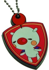 Theatrhythm Final Fantasy Moogle Rubber Keychain