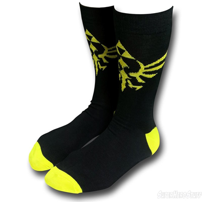 Zelda Skyward Sword Black Crew Socks