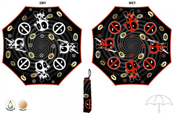 Marvel Deadpool Liquid Reactive Umbrella