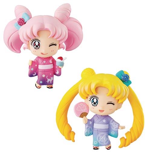 Sailor Moon Petit Chara 2 Pack Set Kyoto Marubeni Version