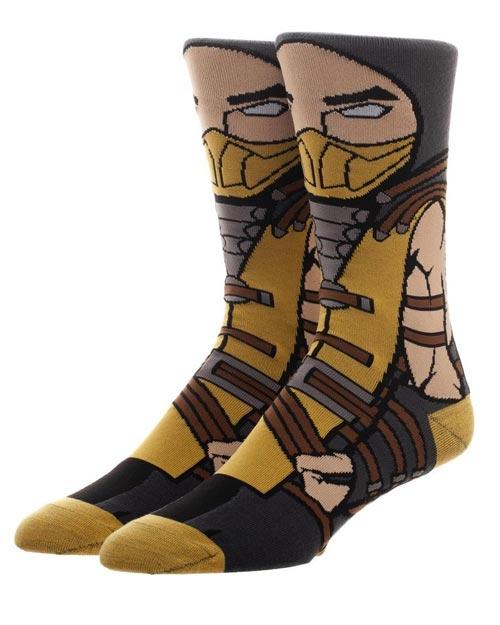 Mortal Kombat Scorpion 360 Crew Socks