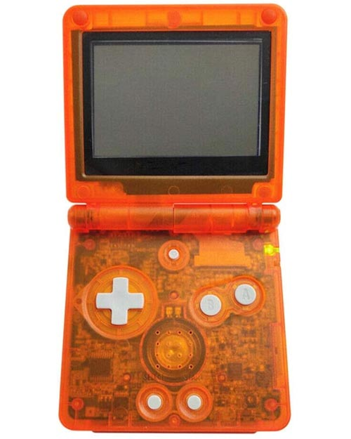 Game Boy Advance SP Housing Shell Replacement Service Clear Orange