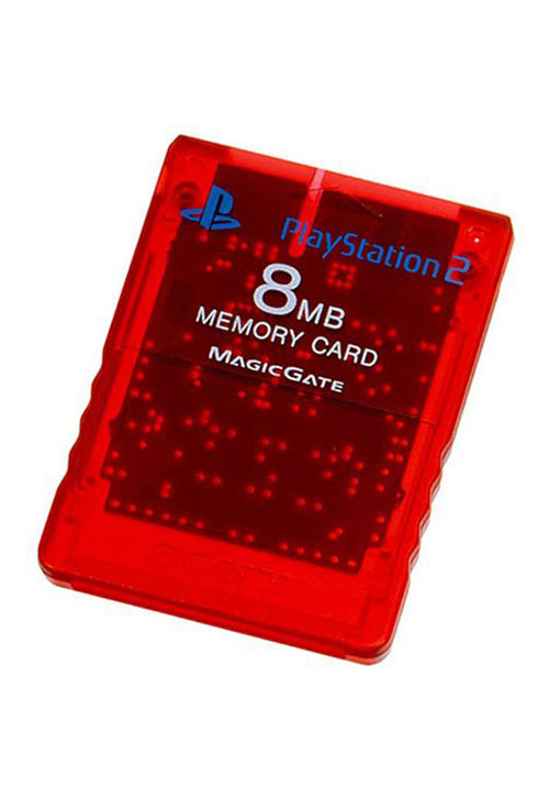 PS2 Memory Card Crimson Red by Sony