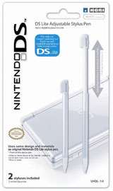 Nintendo DS Lite Adjustable Stylus by Hori (2 Pack)