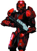 Halo Play Arts Kai Red Spartan Action Figure