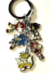 Sonic Heroes Charm Keychain