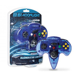 PC/MAC N64 Moonlight USB Illuminating Controller Clear Blue