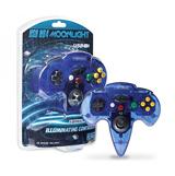 PC/MAC N64 Moonlight USB Illuminating Controller Clear Blue
