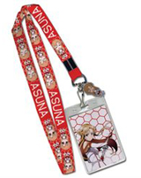 Sword Art Online Asuna Lanyard With Metal Asuna Charm
